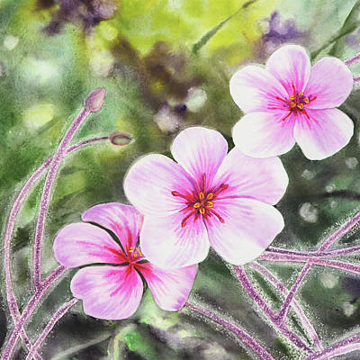 Painting - Pink And Purple Flowers by Irina Sztukowski