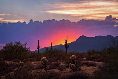 Photograph - Pink And Purple Sunset  by Saija Lehtonen