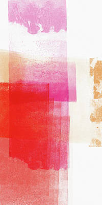 Mixed Media - Pink And Red Minimal 2- Abstract Art By Linda Woods by Linda Woods