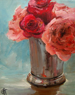 Julep Painting - Pink And Red Roses by Cari Humphry