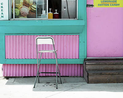 Photograph - Pink And Turquoise Blue Ice Cream Stand by Brooke T Ryan