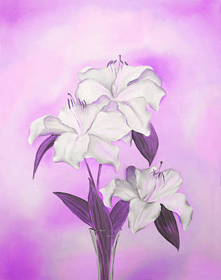 Mixed Media - Pink And White by Elizabeth Lock