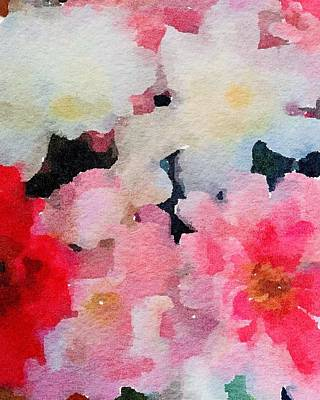 Painting - Pink And White Flower Abstract by Leah Lambart