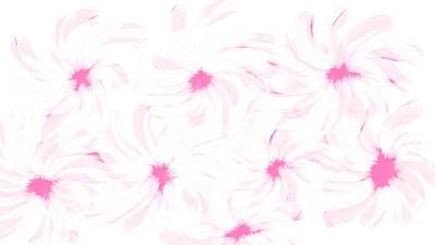 Digital Art - 'pink And White Flower Abstract' by Linda Velasquez