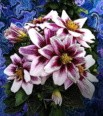 Digital Art - Pink And White Flowers by Artful Oasis
