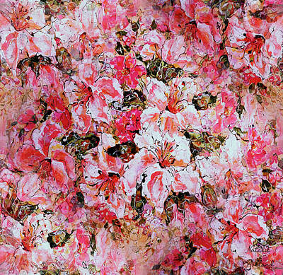Painting - Pink And White Lilies by Natalie Holland