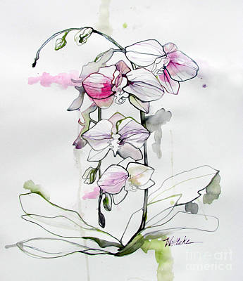 Pink And White Orchids Original