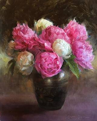 Pink And White Peonies Original by Anna Rose Bain