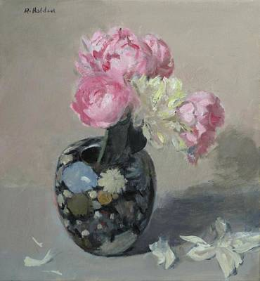 Painting - Pink And White Peonies In Floral-design Ginger Jar by Robert Holden