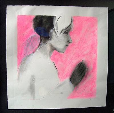 Drawing - Pink Angel by Mykul Anjelo