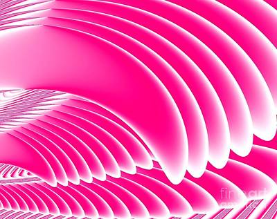 Garden Fruits - Pink Angels Wings Fractal by Rose Santuci-Sofranko