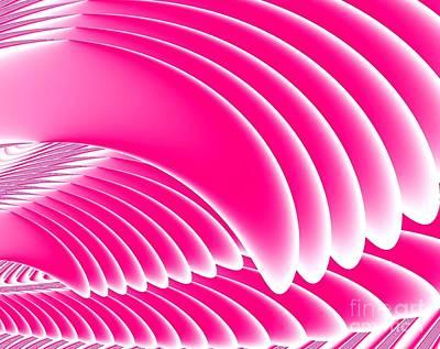 Digital Art - Pink Angels Wings Fractal by Rose Santuci-Sofranko