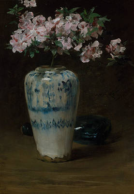 Painting - Pink Azalea - Chinese Vase by William Merritt Chase