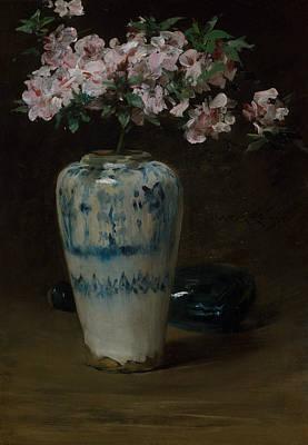 Painting - Pink Azalea - Chinese Vase by William Merritt Chase