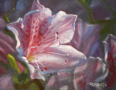 Painting - Pink Azalea by Christopher Reid