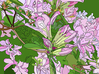 Painting - Pink Azaleas by Jamie Downs