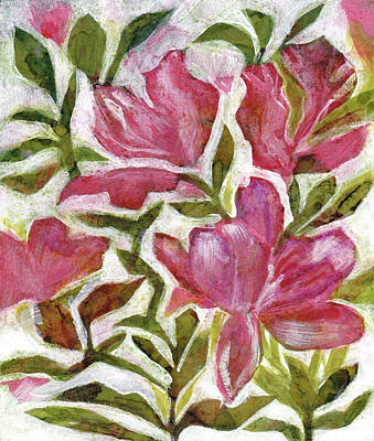 Painting - Pink Azaleas by Julie Maas