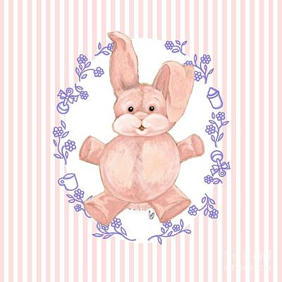 Digital Art - Pink Baby Bunny by Cindy Garber Iverson