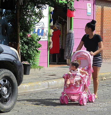 Photograph - Pink Baby Stroller by Randall Weidner