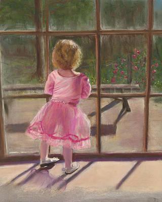 Pink Ballerina Art Print by Kathy Wood