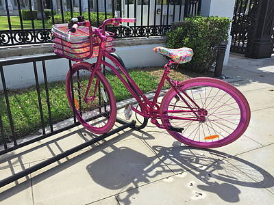 Photograph - Pink Bicycle by Denise Mazzocco
