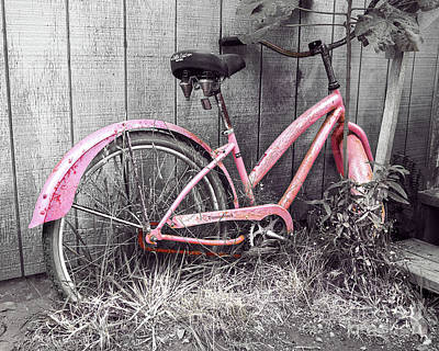 Photograph - Pink Bicycle by Jerry Cowart