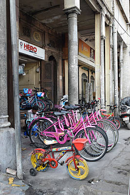 Photograph - Pink Bicycles  by Sumit Mehndiratta