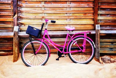 Photograph - Pink Bike At The Beach by Debra and Dave Vanderlaan