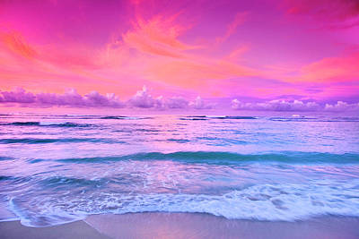Sunrise At The Beach Photograph - Pink Bliss by Sean Davey