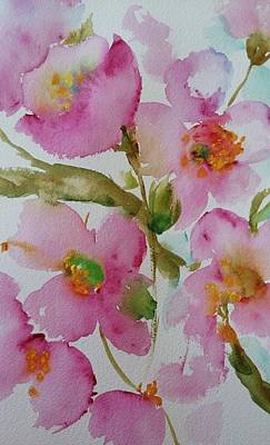 Painting - Pink Bloom by Kathy  Karas