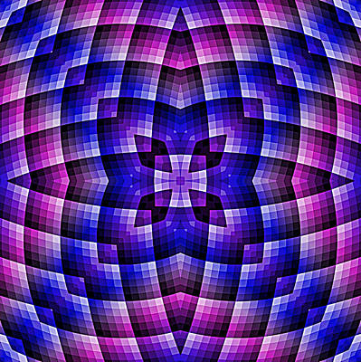 Digital Art - Pink Blue And Purple Abstract 01 by Ruth Moratz