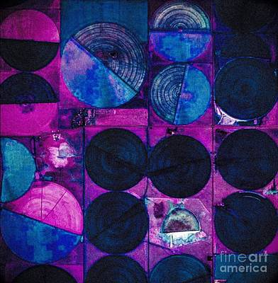Painting - Pink Blue Circles And Squares by Jennifer Lake