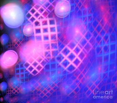 Digital Art - Pink Blue Windows by Kim Sy Ok