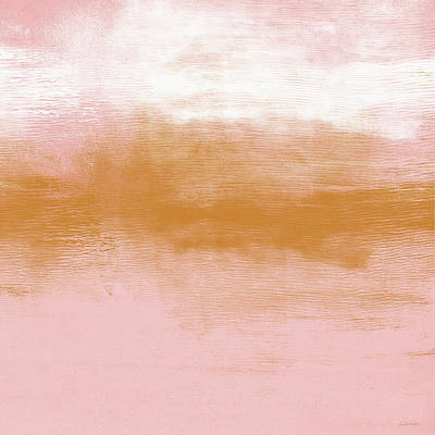 Abstract Landscape Painting - Pink Blush Landscape- Abstract Art By Linda Woods by Linda Woods
