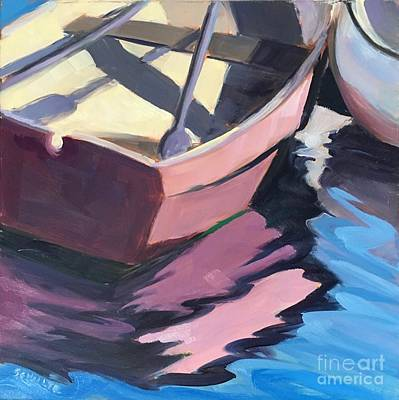 Painting - Pink Boat by Lynne Schulte