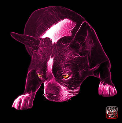 Mixed Media - Pink Boston Terrier Art - 8384 - Bb by James Ahn