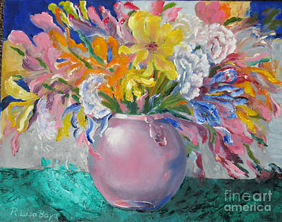 Painting - Pink Bowl by Lisa Boyd