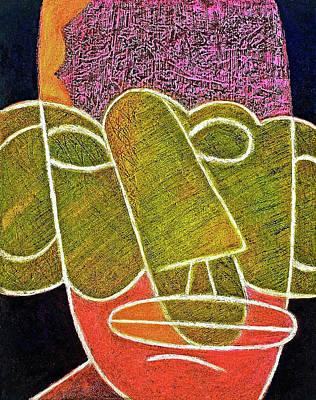 Psychiatry Mixed Media - Pink Brain by Jarmila Kostliva