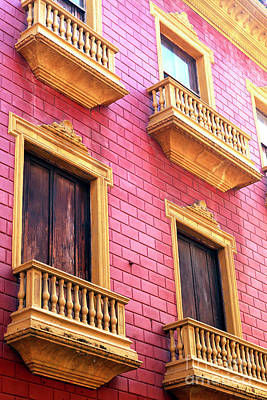 Photograph - Pink Bricks In Cartagena by John Rizzuto