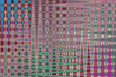 Photograph - Pink Brown Blue Geometric Abstract by Jenny Rainbow