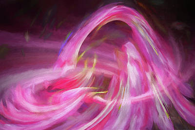 Digital Art - Pink Brush Strokes by Bill Posner