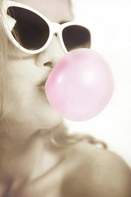 Photograph - Pink Bubble Gum by Sotiris Filippou