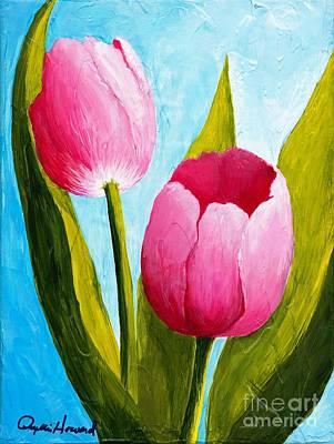 Pink Bubblegum Tulip II Art Print