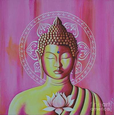 Painting - Pink Buddha by Joseph Sonday
