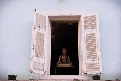Photograph - Pink Buddha by Rasma Bertz