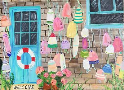 Painting - Pink Buoys by Mindy Carpenter