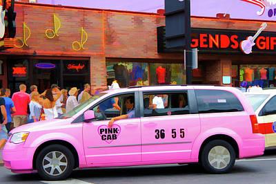 Speeding Taxi Photograph - Pink Cab by Art Spectrum