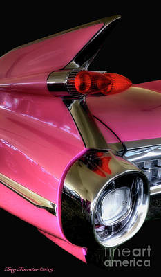 Art Print featuring the photograph Pink Cadillac Blackout by Trey Foerster