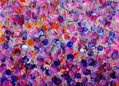 Mayflower Mixed Media - Pink California Splatter Map by Sean Corcoran