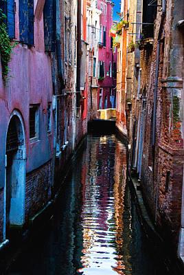 Pink Canal Art Print